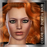 *Color It!*-Portia Hair 3D Figure Essentials Romantic-3D