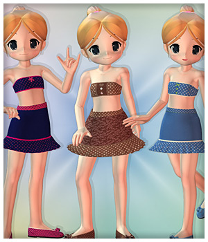 Sweet Summer for NearMe 3D Figure Assets karanta