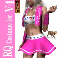 Race Queen Costume1 for Victoria 4 - powered by nekoja  3D Figure Essentials nekoja