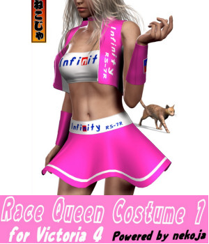 Race Queen Costume1 for Victoria 4 - powered by nekoja 3D Figure Assets nekoja