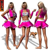 Race Queen Costume1 for Victoria 4 - powered by nekoja image 2