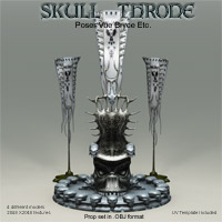 Skull Throne .OBJ Pack  Themed Props/Scenes/Architecture Poisen