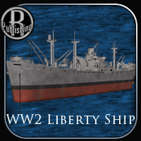 WW2 Liberty Ship Themed Props/Scenes/Architecture Transportation RPublishing