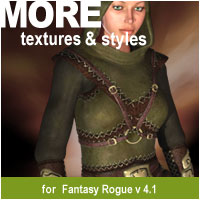 MORE Textures & Styles for Fantasy Rogue v4.1 Themed Clothing motif