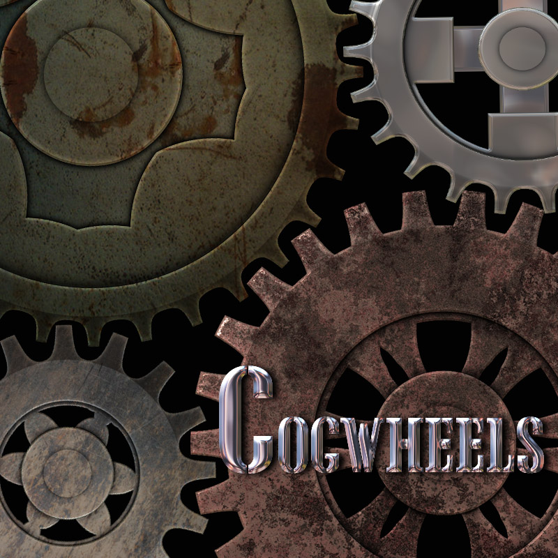 Cogwheels - PSD Layers & Brushes