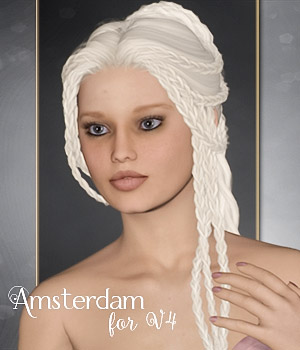 Amsterdam for V4 3D Figure Assets Makena