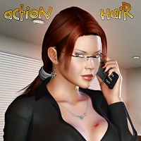 Action Hair 3D Figure Assets Pretty3D