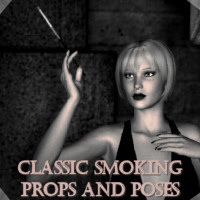Classic Smoking Poses 3D Figure Assets Khory_D