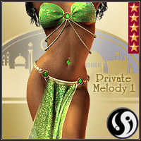 Agrabah Nights: V4 Private Melody 1 3D Figure Assets CJ-studio