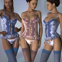 Hongyu's Corset 2 for V4 3D Figure Essentials hongyu