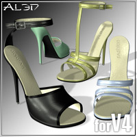 Shoe Pack3 for V4 3D Figure Assets _Al3d_