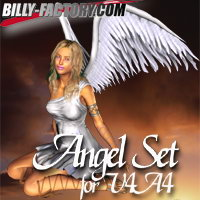 Angel Set for V4&A4 3D Figure Assets billy-t