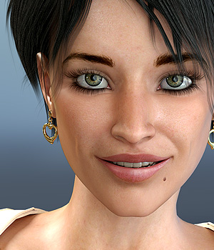 Nuria for V4 3D Figure Assets Virtual_World
