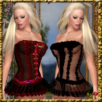 Sweetie Pie Corset Bundle,V4,V3.A3,Miki2,G2 ladies,Terai Yuki2 3D Figure Essentials lululee