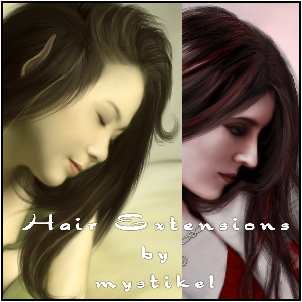 Hair Extensions / Streaks Pack