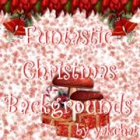 Funtastic Christmas Backgrounds by yakchat  Themed 2D And/Or Merchant Resources yakchat