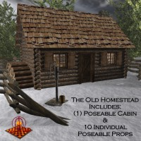 Old Homestead 3D Models SAMS3D