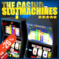 The Casino - Slotmachines Extended Licenses 3D Models SolidusSoft