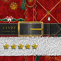 Digital paint textile kit Royal Velvet for Santa and Santa's girls 2D LadyJ