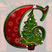 Christmas Alphabet 3D Models 2D Graphics dorkati