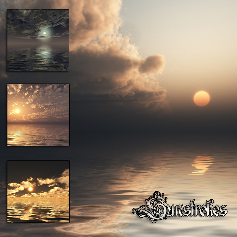 Sunstrokes Sea & Sky Backgrounds by dantescanto