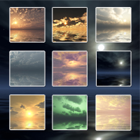 Sunstrokes Sea & Sky Backgrounds image 1