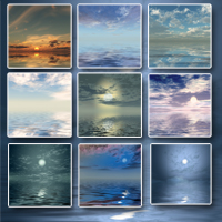 Sunstrokes Sea & Sky Backgrounds image 2