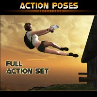 Action Poses 3D Models 3D Figure Assets mytilus
