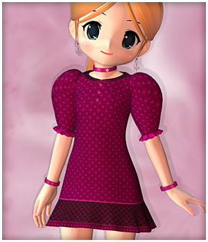 Little Darling Dress for NearMe 3D Figure Assets karanta