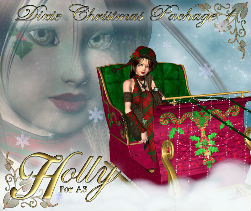 Holly for A3-Dixie Christmas Pack 1