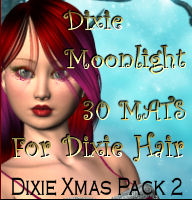 Dixie Moonlight for Dixie Hair-Dixie Christmas Pack 2 3D Models 3D Figure Assets Propschick