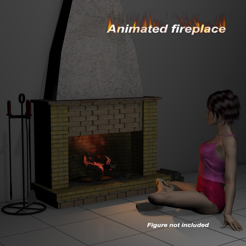 Animated fireplace