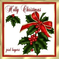 Holly Christmas 2D Graphics dpanzee
