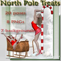 North Pole Treats 3D Figure Assets 3D Models 2D Graphics ilona
