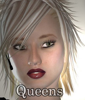 Queens for V4 3D Figure Assets sahejaa