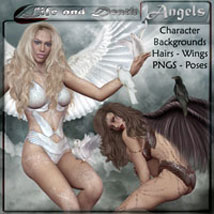 ANGELS - Life and Death 3D Figure Assets 2D Graphics ilona