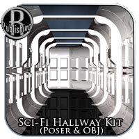 Sci-Fi Hallway Kit (Poser & OBJ) Props/Scenes/Architecture Themed RPublishing