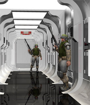 Sci-Fi Hallway Kit (Poser & OBJ) 3D Models RPublishing