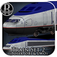 Train Set 2 (Poser, OBJ & LWO)   Themed Transportation Props/Scenes/Architecture Stand Alone Figures RPublishing