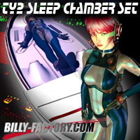 TY2 Sleep Chamber Set 3D Figure Assets billy-t