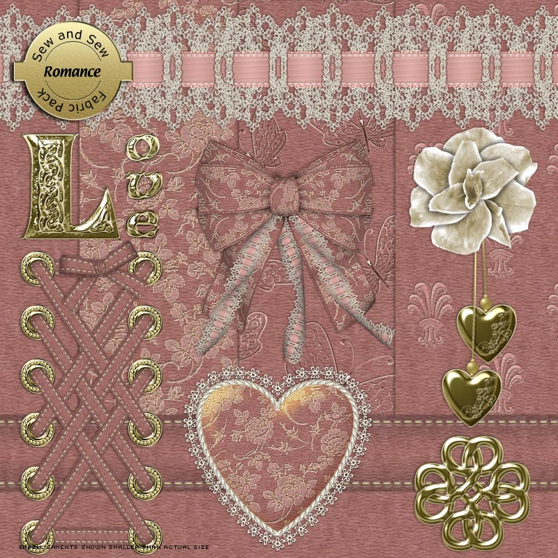 Sew and Sew Romance Fabric Pack