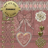 Sew and Sew Romance Fabric Pack 2D 3D Models macatelier