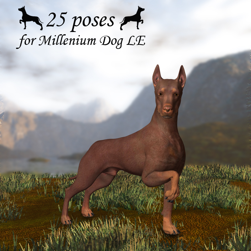 CG Millenium Dog Poses
