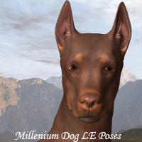 CG Millenium Dog Poses 3D Figure Essentials 3D Models ChristineG