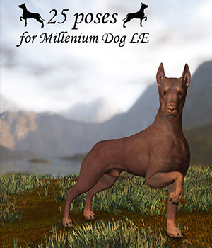 CG Millenium Dog Poses by ChristineG
