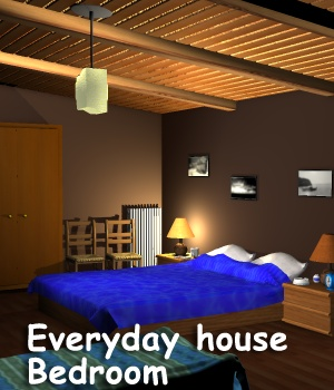Everyday house - Bedroom 3D Models greenpots