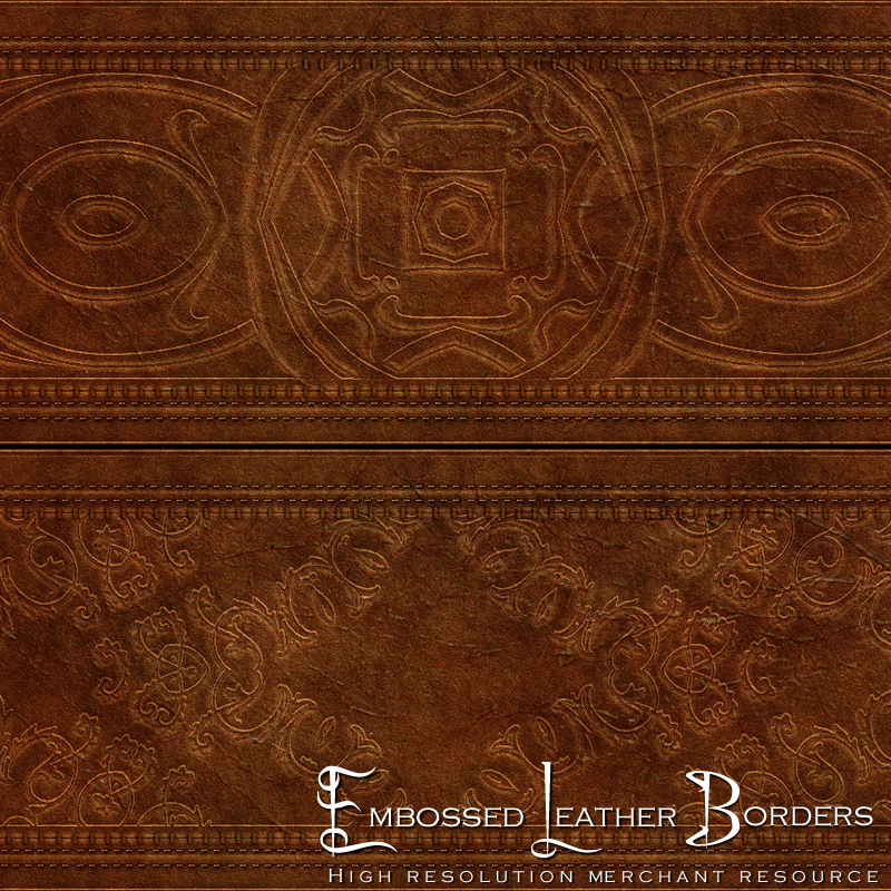 Embossed Leather Borders - Merchant Resource