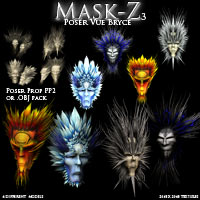 Mask-Z 3 3D Models Poisen