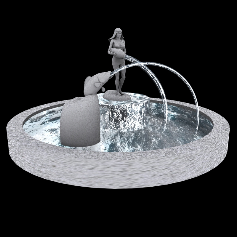 Real animated water for POSER