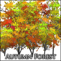 Deskar - Autumn Forest 2D Graphics Deskar